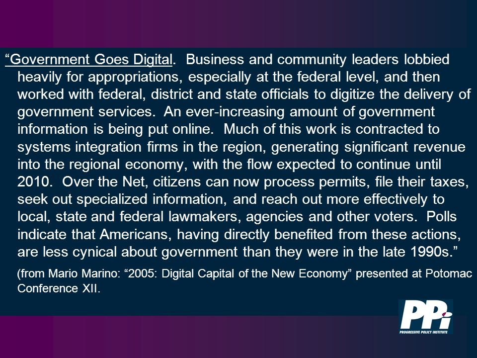 Government Goes Digital.
