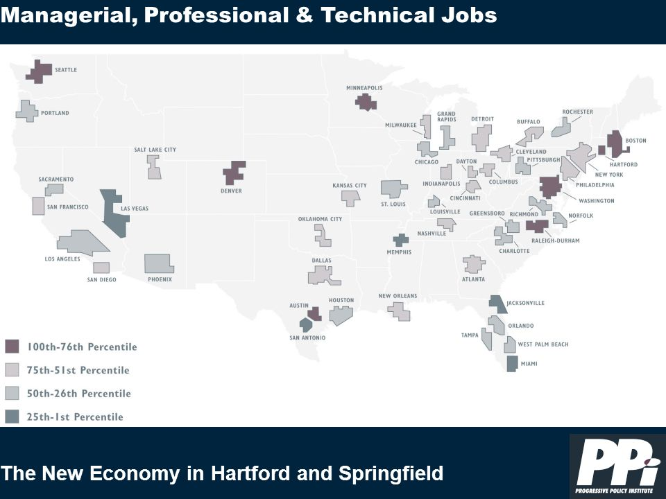 The New Economy in Hartford and Springfield Managerial, Professional & Technical Jobs