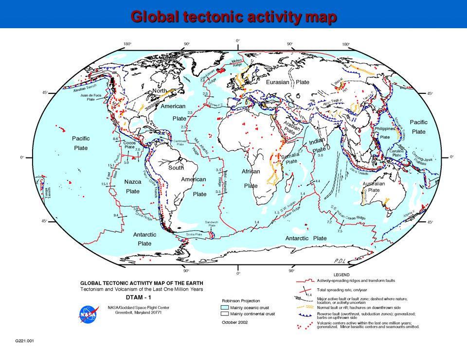 Global tectonic activity map