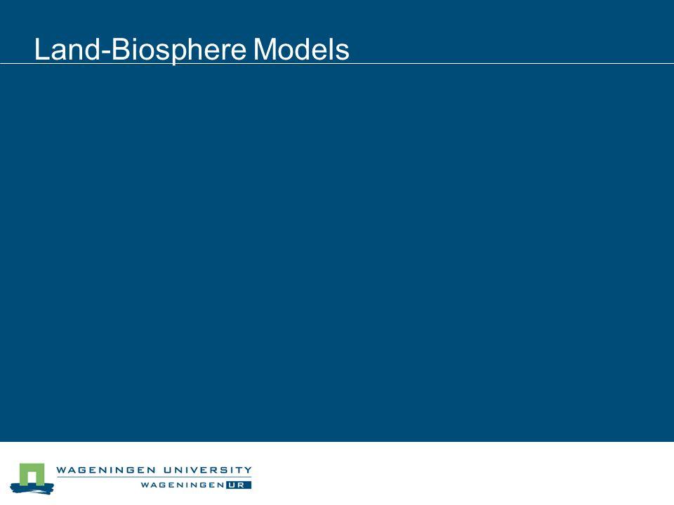 Land-Biosphere Models