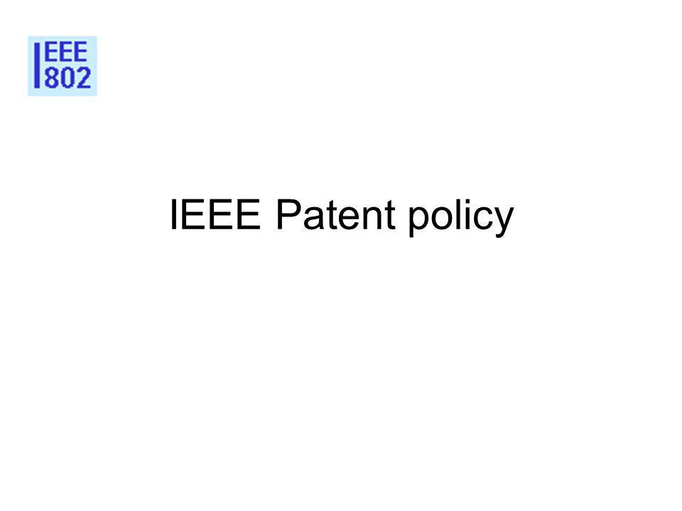 IEEE Patent policy