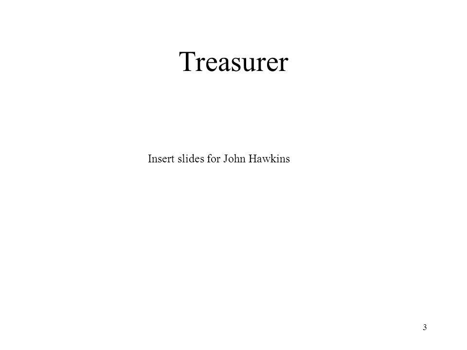 3 Treasurer Insert slides for John Hawkins