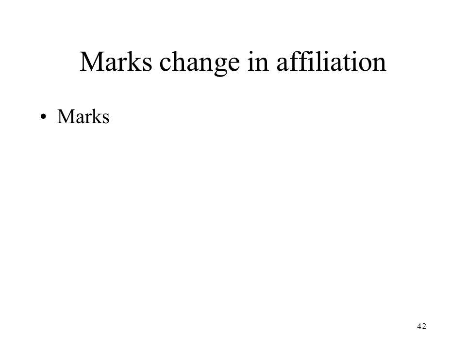 42 Marks change in affiliation Marks