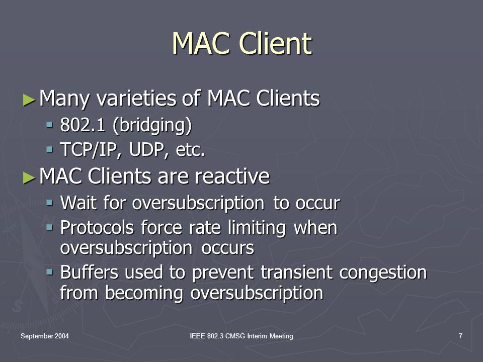 September 2004IEEE 802.3 CMSG Interim Meeting8 The Evil Trade-off Buffers vs.
