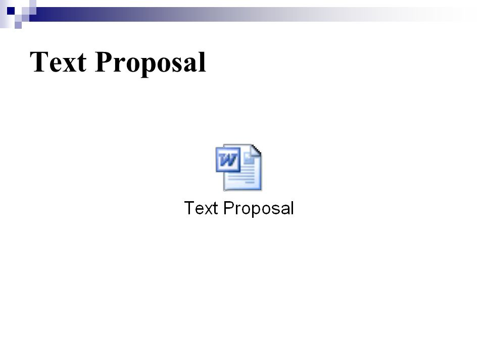 Text Proposal