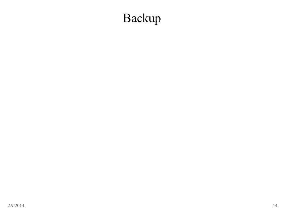 142/9/2014 Backup
