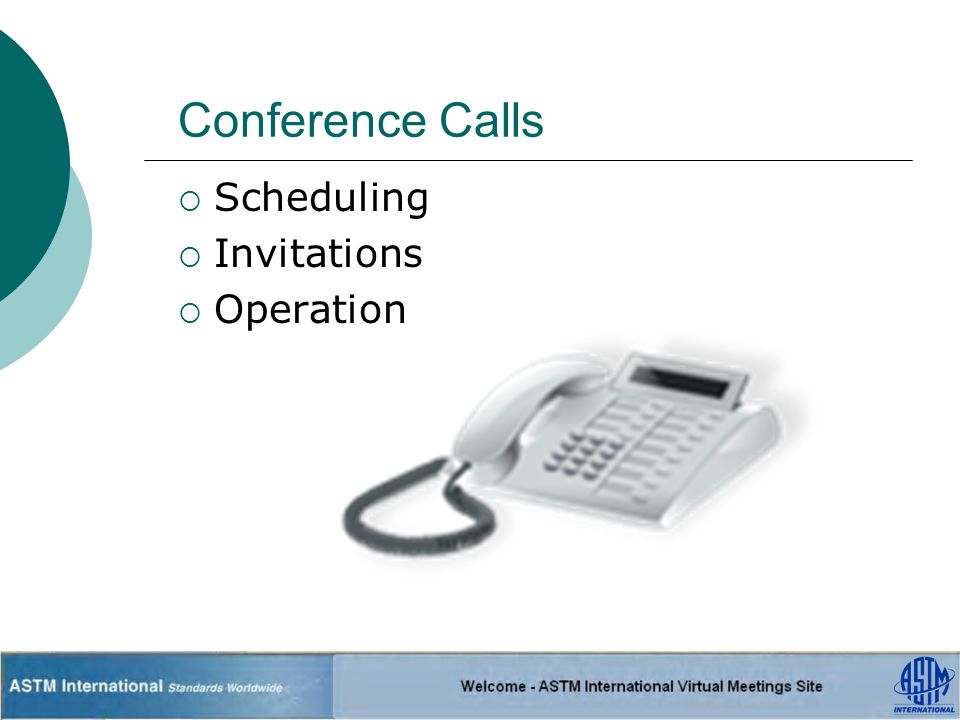 Conference Calls Scheduling Invitations Operation