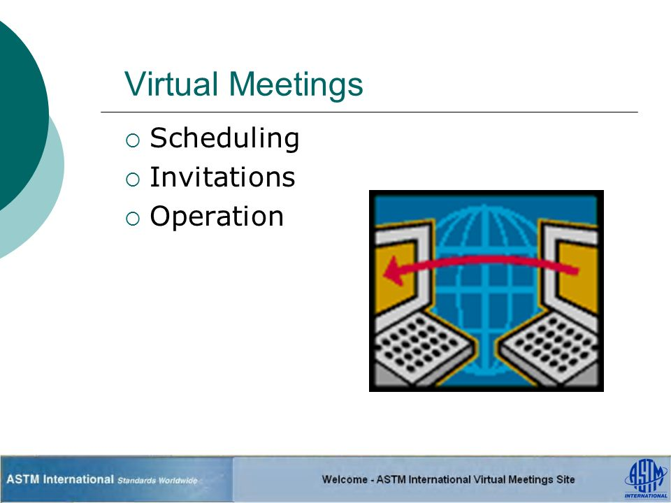 Virtual Meetings Scheduling Invitations Operation