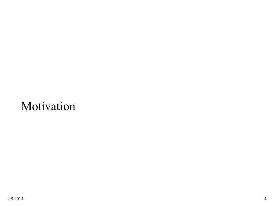 42/9/2014 Motivation