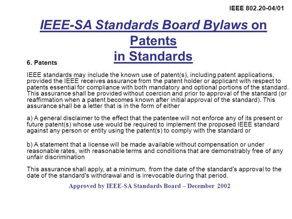 IEEE 802.20-04/01 6.