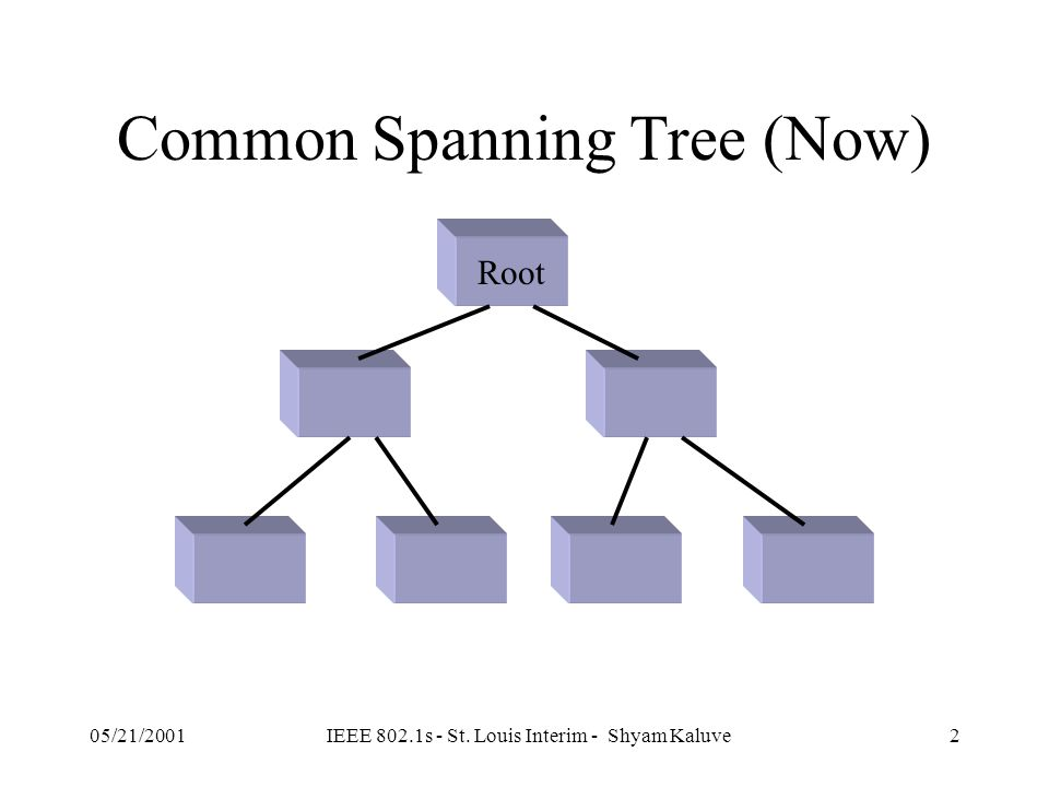 Multiple Spanning Trees Shyam Kaluve ( skaluve@cisco.com ) IEEE 802.1s 05/21/2001 St. Louis Interim