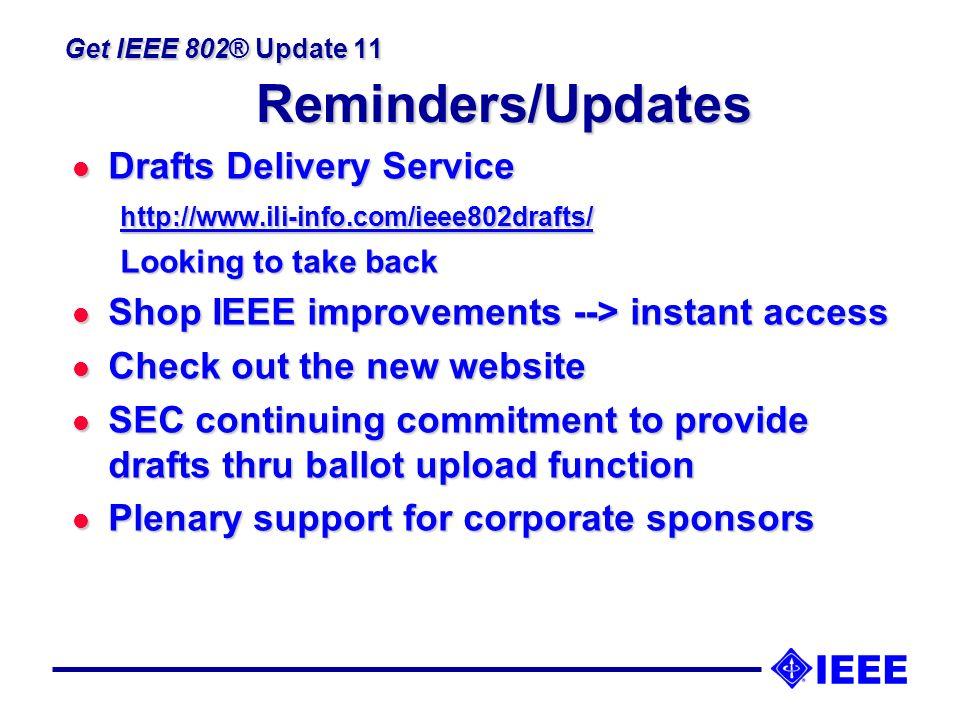 Get IEEE 802® Update 11 2006 Proposed Budget