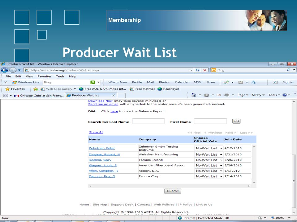 Producer Wait List