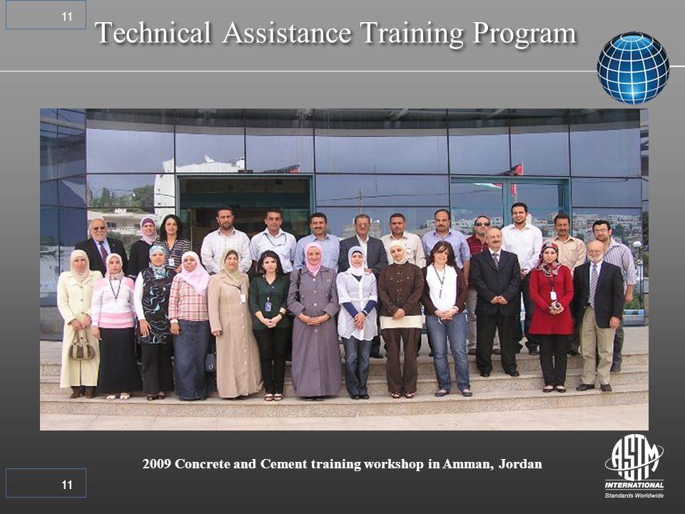 11 2009 Concrete and Cement training workshop in Amman, Jordan Technical Assistance Training Program 11