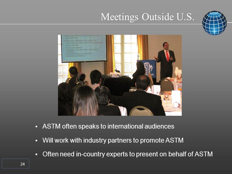 24 Meetings Outside U.S.