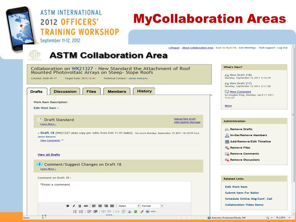 MyCollaboration Areas 17