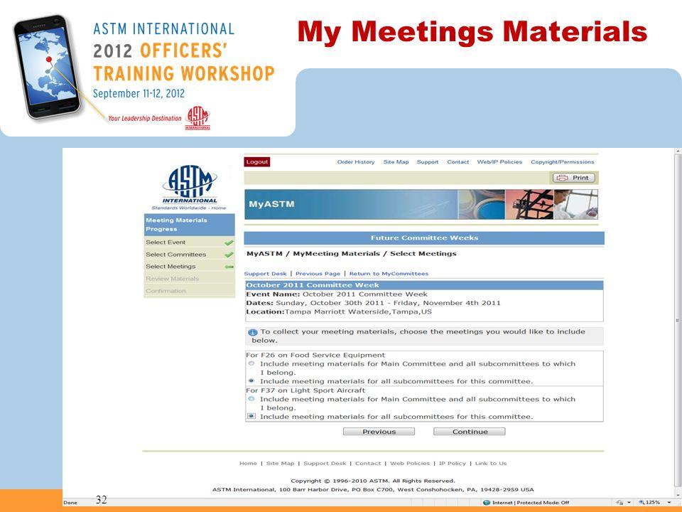 My Meetings Materials 32
