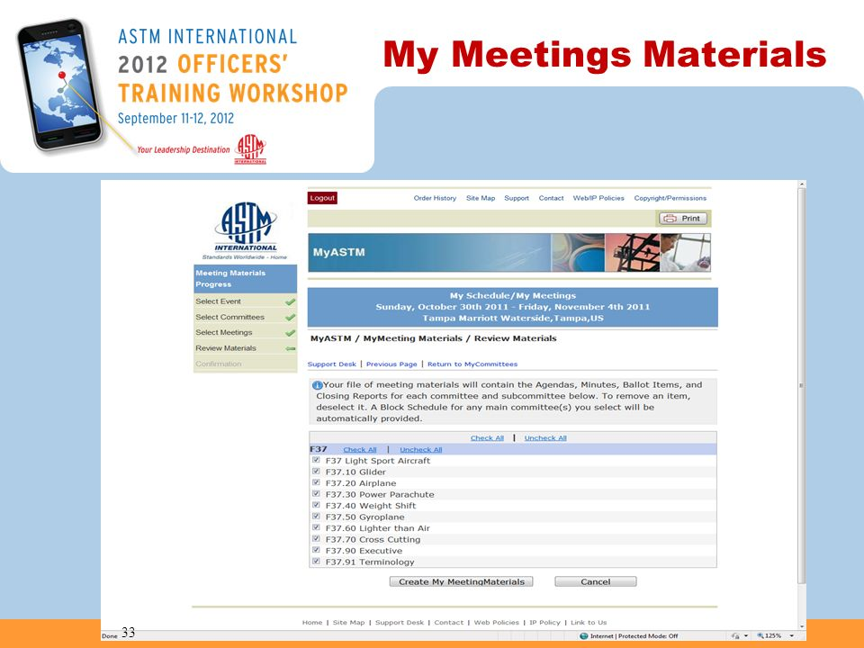 My Meetings Materials 33