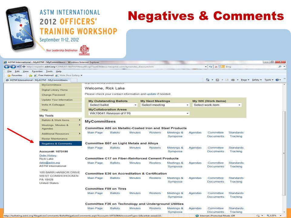 Negatives & Comments 44