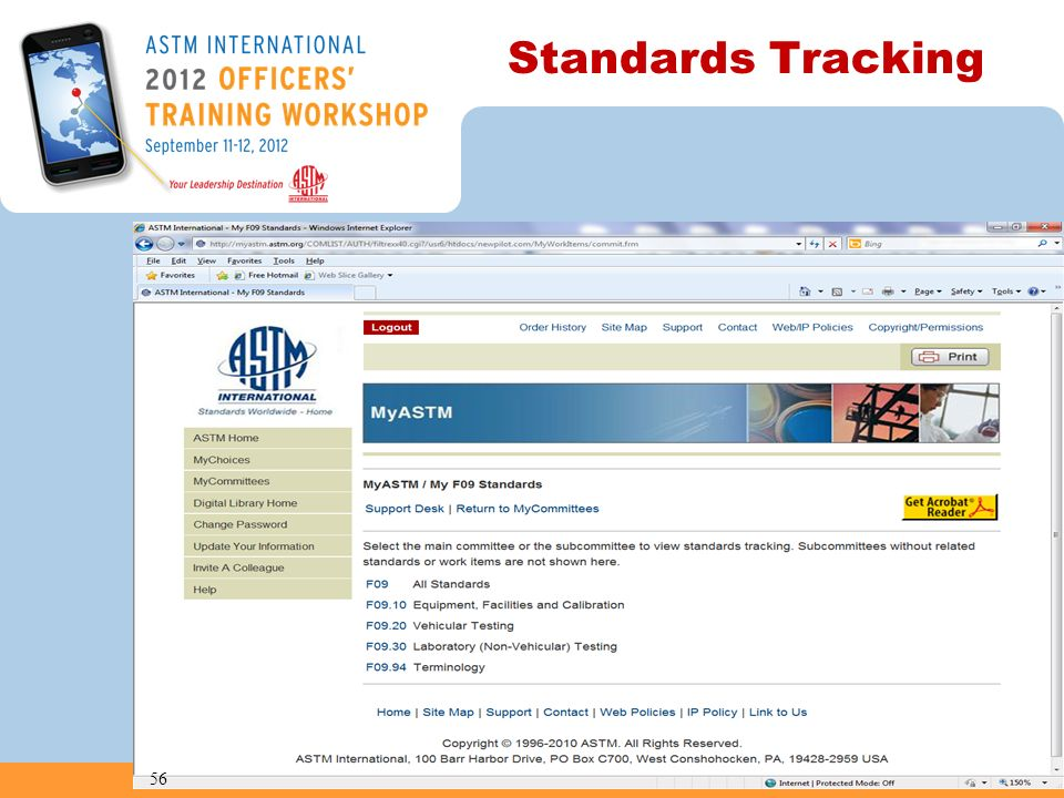 Standards Tracking 56