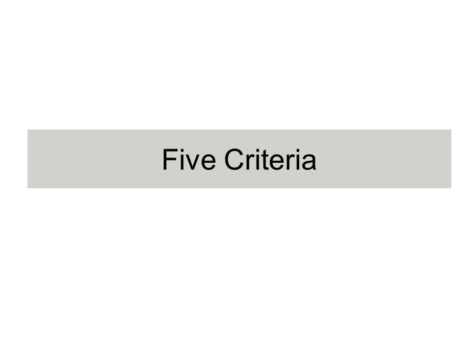Five Criteria