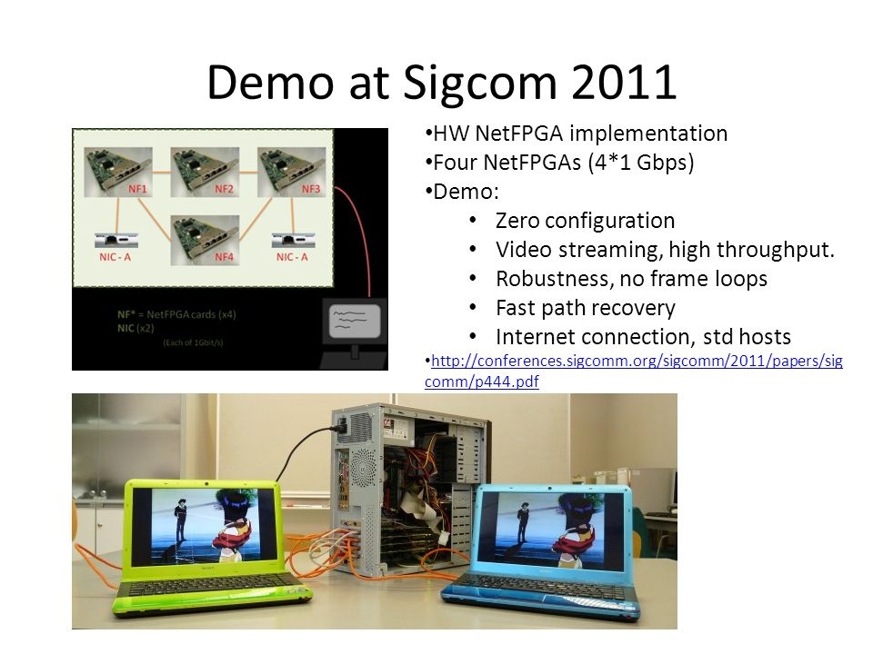 REPORT OF ALL PATH DEMOS - TORONTO: SIGCOM AUGUST 2011 - BONN: LCN OCTOBER 2011