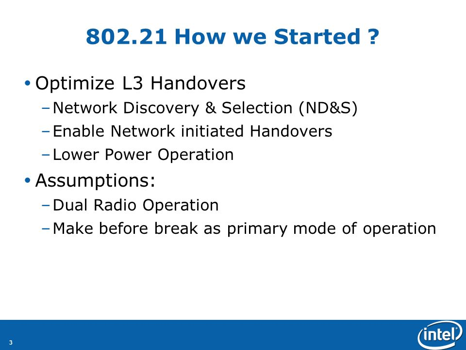 3 802.21 How we Started .