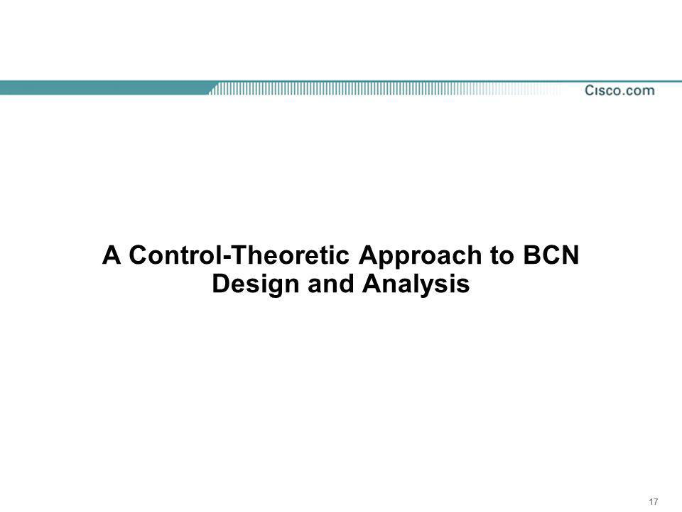 17 A Control-Theoretic Approach to BCN Design and Analysis