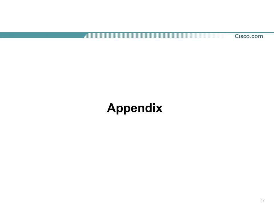 31 Appendix