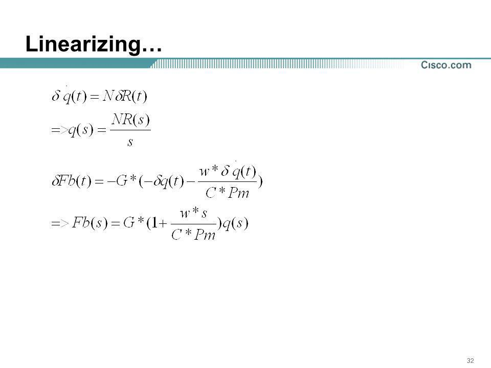 32 Linearizing…