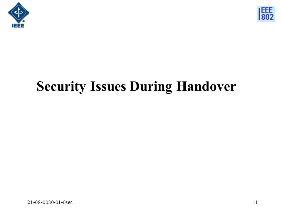 21-08-0080-01-0sec11 Security Issues During Handover