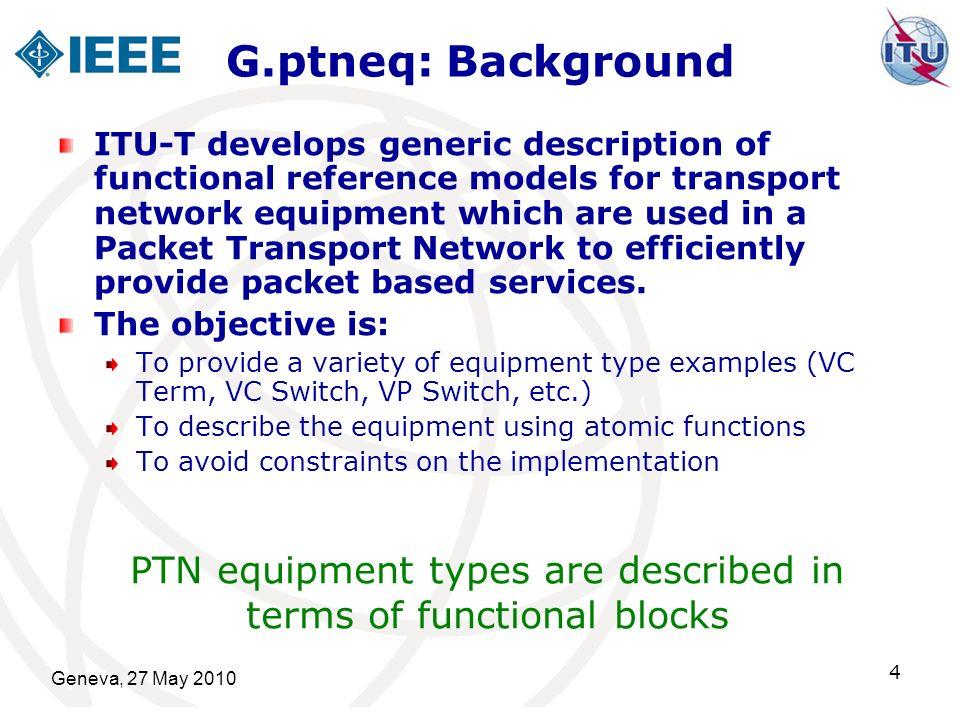 Geneva, 27 May 2010 15 G.ptneq: Generic overview of PTN functional Model
