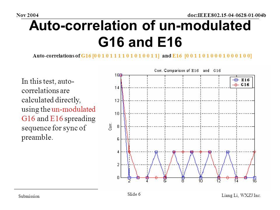Nov 2004 doc:IEEE802.15-04-0628-01-004b Slide 7 Submission Liang Li, WXZJ Inc.