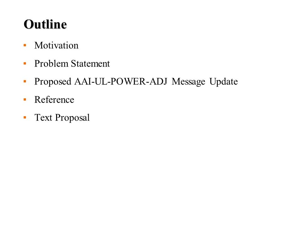 Remarks In this contribution, we suggest to combine both AAI_UL_POWER_ADJ message and FA-A-MAP-IE as a new AAI_UL_POWER_ADJ message so that AMS can adjust not only the transmit power but also the feedback periodicity of AMS at the same time without additional resource Since not all the control parameters from FA-A-MAP-IE are included in the new AAI_UL_POWER_ADJ message, only feedback periodicity and duration are updated while the other feedback mechanisms, such as MIMO mode, are kept the same as specified in the latest FA-A-MAP-IE