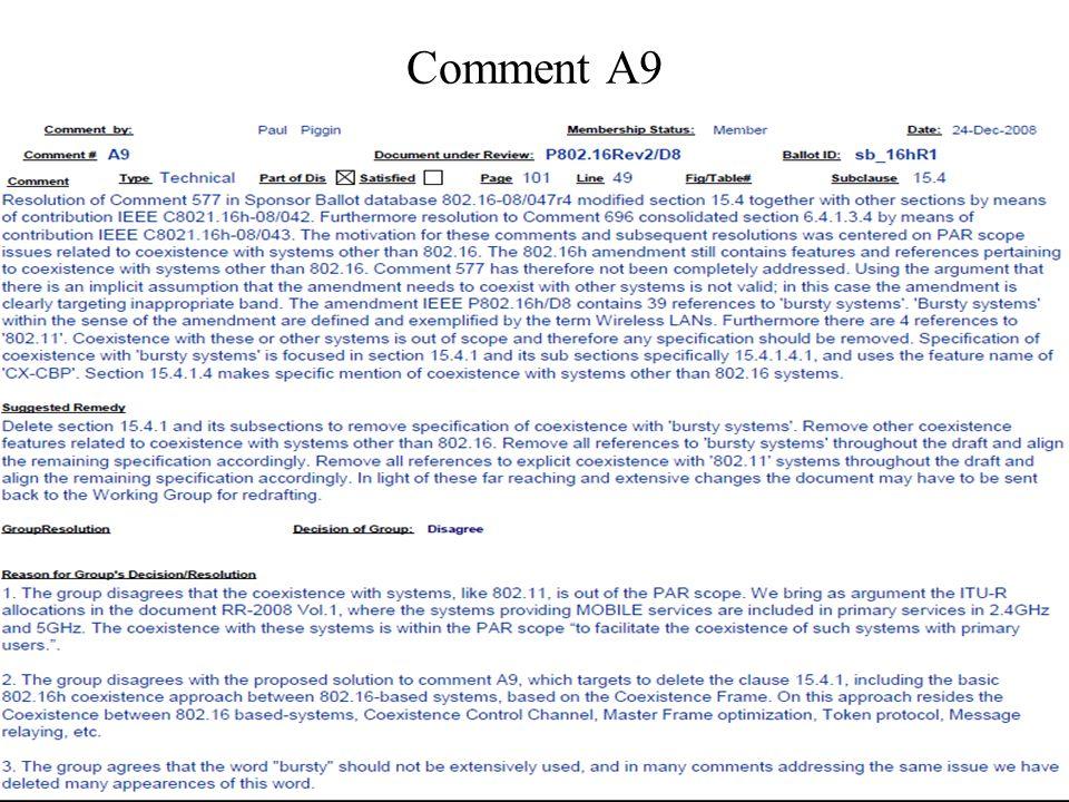 Comment A9