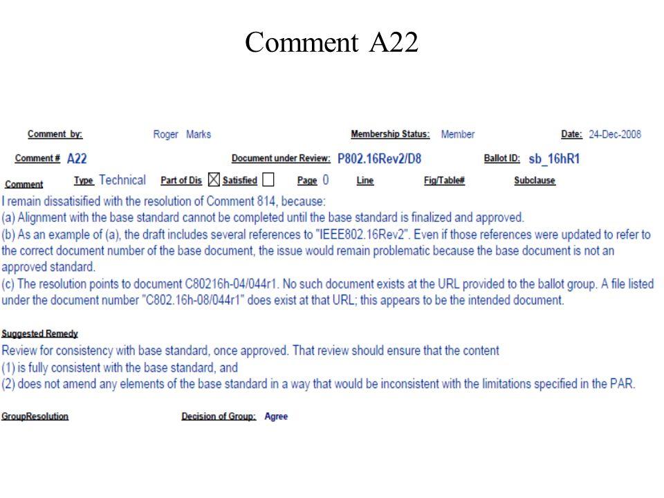 Comment A22