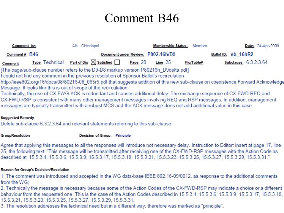 Comment B46