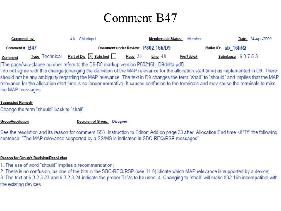 Comment B47
