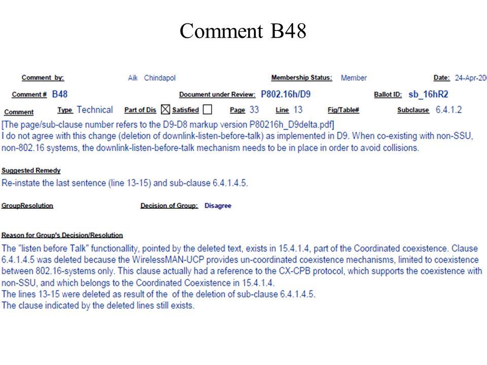 Comment B48