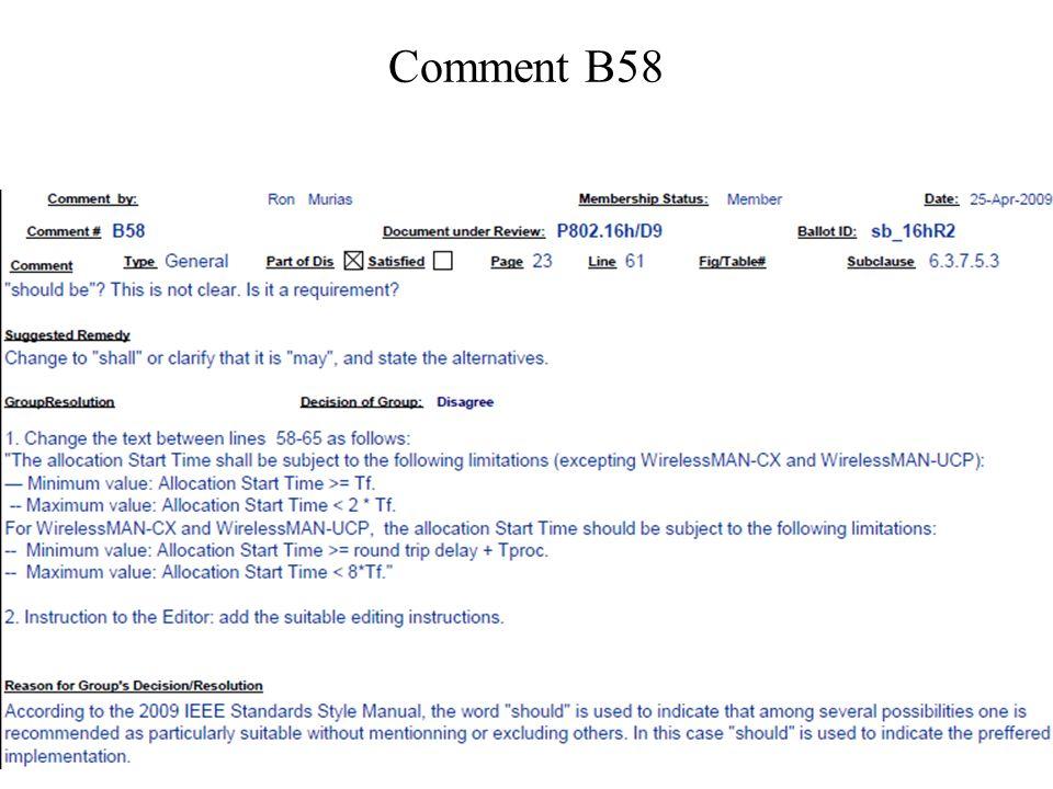 Comment B58