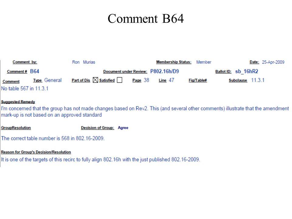 Comment B64