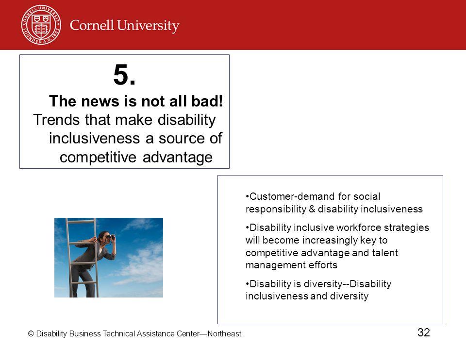© Disability Business Technical Assistance CenterNortheast 32 Customer-demand for social responsibility & disability inclusiveness Disability inclusiv