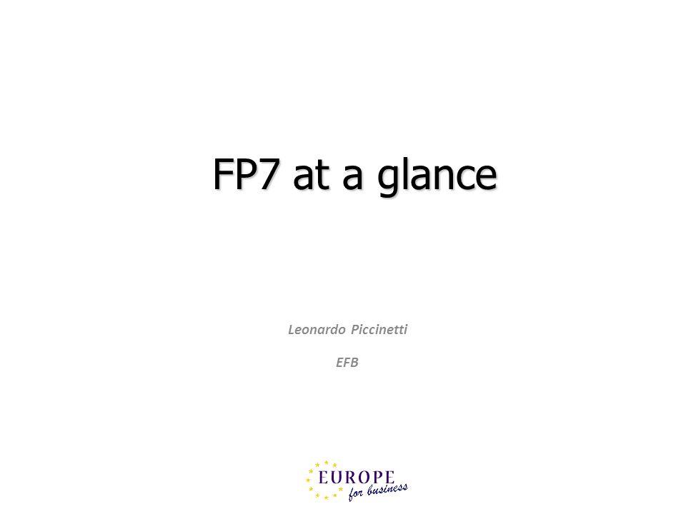 FP7 at a glance Leonardo Piccinetti EFB
