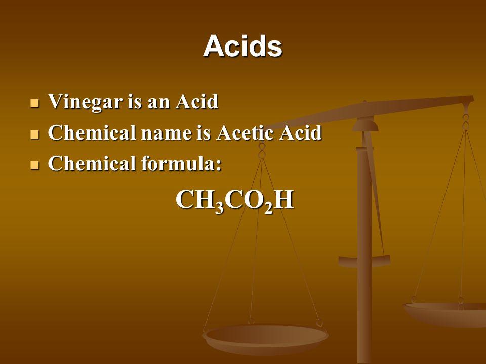 Bases Baking Soda is a Base Baking Soda is a Base Chemical name is Sodium Bicarbonate Chemical name is Sodium Bicarbonate Chemical formula: Chemical formula: NaHCO 3