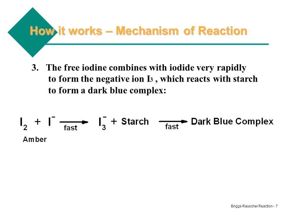 Briggs-Rauscher Reaction - 8 The Blue Starch-Iodine/Iodide Complex