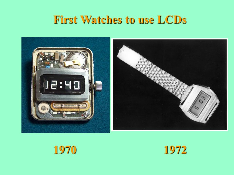 First Watches to use LCDs 19701972
