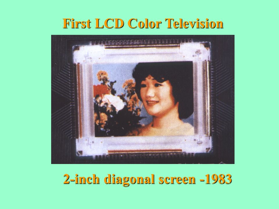 First LCD Color Television 2-inch diagonal screen -1983