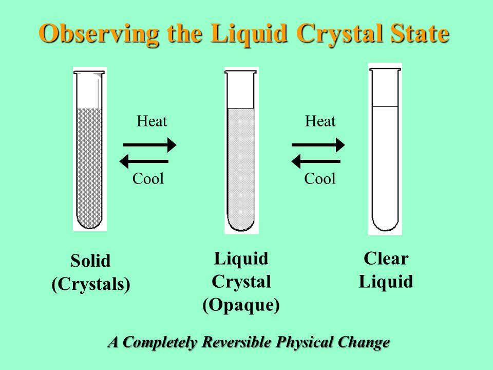 Phase Change Diagram For K-18 Liquid Crystal