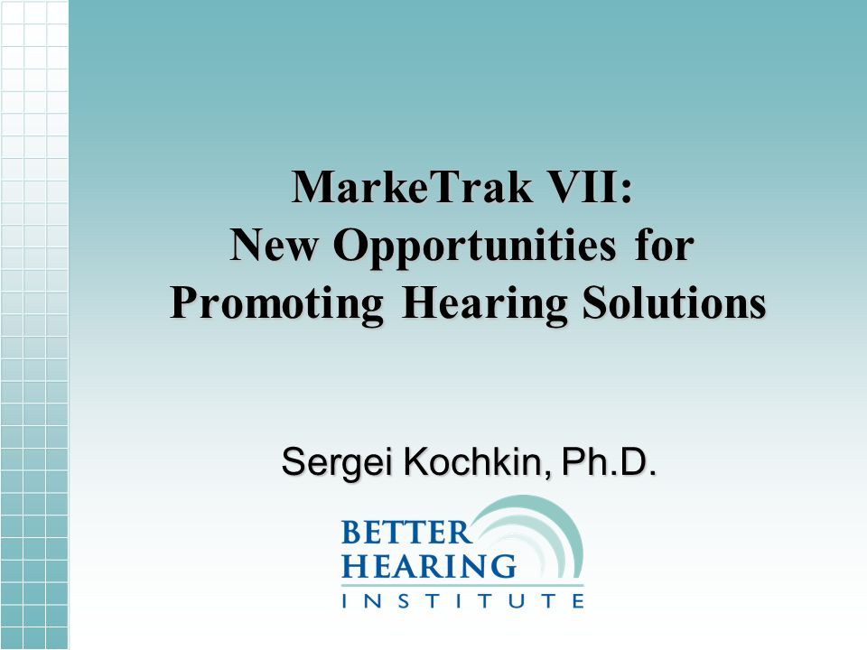 Reasons for not-adoption of hearing aids Factor = Hearing Loss
