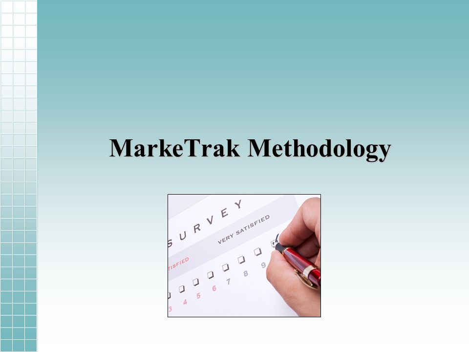 MarkeTrak Methodology